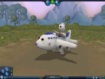 Spore creature creator on game and player.