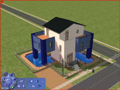 広いプール付きの家
