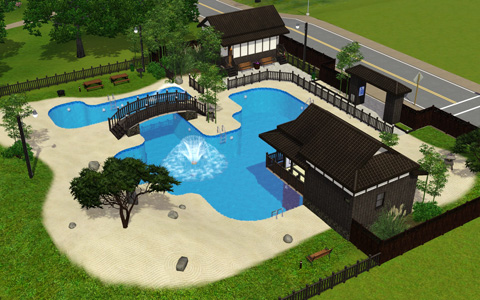 The sims 3 for Pool design sims 3